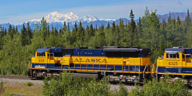 Alaska Railroad Denali Park To Talkeetna Train