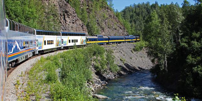 Alaska Railroad Talkeetna To Denali Park Train